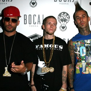 DJ Drama, Jereme Rogers, Travis Barker in The 2007 MTV Video Music Awards After Party - Arrivals