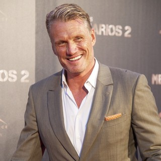 Dolph Lundgren in Spanish The Expendables 2 Premiere