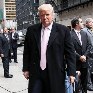 Donald Trump in Donald Trump at The Late Show with David Letterman Studio