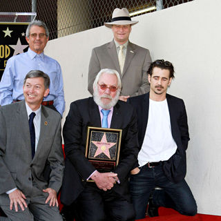Ron Meyer, Donald Sutherland, Colin Farrell in Donald Sutherland Receives The 2,430th Star on The Hollywood Walk of Fame