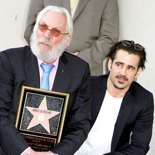 Donald Sutherland, Colin Farrell in Donald Sutherland Receives The 2,430th Star on The Hollywood Walk of Fame