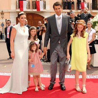 Donatella Knecht de Massy in Religious Ceremony of The Royal Wedding of Prince Albert II of Monaco to Charlene Wittstock