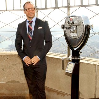 Donnie Wahlberg, New Kids On The Block in Donnie Wahlberg Lights The Empire State Building