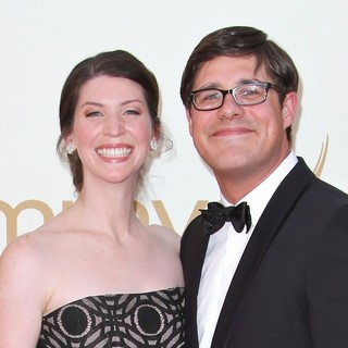 Virginia Donohoe, Rich Sommer in The 63rd Primetime Emmy Awards - Arrivals