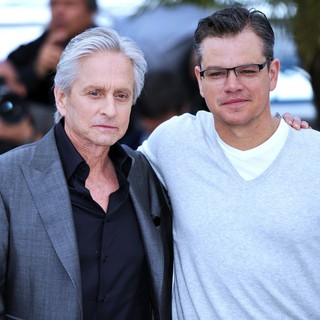 Michael Douglas, Matt Damon in 66th Cannes Film Festival - Behind the Candelabra - Photocall