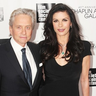 Michael Douglas, Catherine Zeta-Jones in 40th Anniversary Chaplin Award Gala Honoring Barbra Streisand