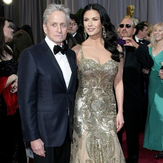 Michael Douglas, Catherine Zeta-Jones in The 85th Annual Oscars - Red Carpet Arrivals