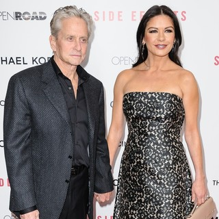 Michael Douglas in New York Premiere of Side Effects - douglas-jones-premiere-side-effects-02