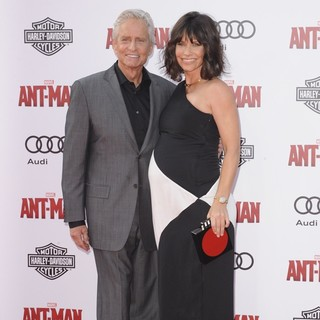 Michael Douglas, Evangeline Lilly in Premiere of Marvel's Ant-Man - Red Carpet Arrivals