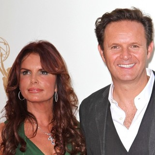 Roma Downey, Mark Burnett in The 63rd Primetime Emmy Awards - Arrivals