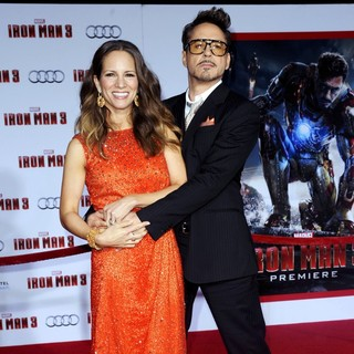 Susan Levin, Robert Downey Jr. in Iron Man 3 Los Angeles Premiere - Arrivals
