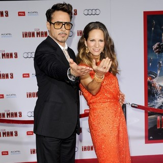Robert Downey Jr., Susan Levin in Iron Man 3 Los Angeles Premiere - Arrivals