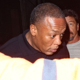Dr. Dre in Dr. Dre Leaving C London Restaurant After Having Dinner with will.i.am