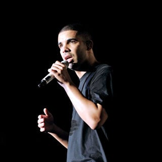 Drake in Drake Performs on Stage at The Molson Canadian Amphitheatre