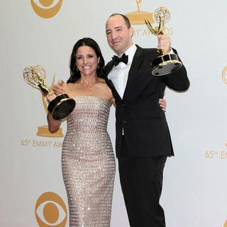 Julia Louis-Dreyfus, Tony Hale in 65th Annual Primetime Emmy Awards - Press Room