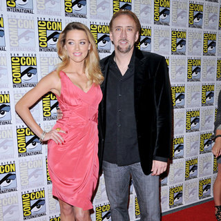 Amber Heard, Nicolas Cage in Comic Con 2010 - Day 2 - 'Drive Angry' Photocall