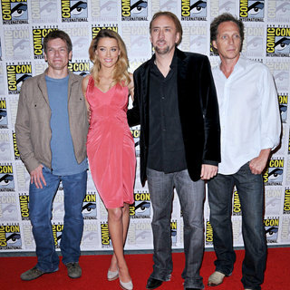 Patrick Lussier, Amber Heard, Nicolas Cage, William Fichtner in Comic Con 2010 - Day 2 - 'Drive Angry' Photocall