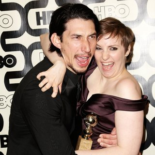 Adam Driver, Lena Dunham in 2013 HBO's Golden Globes Party - Arrivals