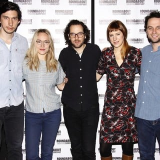 Adam Driver, Sarah Goldberg, Sam Gold, Charlotte Parry, Matthew Rhys in Photocall for The Roundabout Theatre Company's Look Back in Anger