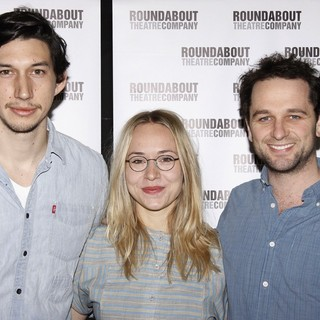 Adam Driver, Sarah Goldberg, Matthew Rhys in Photocall for The Roundabout Theatre Company's Look Back in Anger