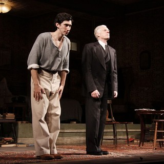 Adam Driver, Michael Siberry in Opening Night of The Broadway Play Man and Boy