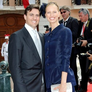Archie Drury, Karolina Kurkova in Religious Ceremony of The Royal Wedding of Prince Albert II of Monaco to Charlene Wittstock