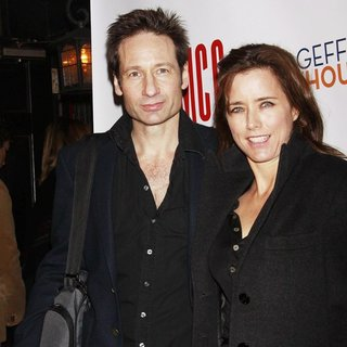 David Duchovny, Tea Leoni in Opening Night After Party for The Off-Broadway Production of The Break of Noon - Arrivals