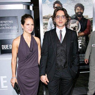 Susan Levin, Robert Downey Jr. in Los Angeles Premiere of 'Due Date'