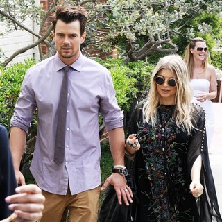 Josh Duhamel, Stacy Ferguson in Fergie and Josh Duhamel Leaving A Church in Brentwood After Easter Sunday Mass
