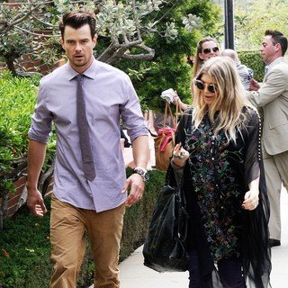 Fergie and Josh Duhamel Leaving A Church in Brentwood After Easter Sunday Mass - duhamel-ferguson-leaving-a-church-02