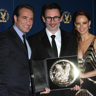 Jean Dujardin, Michel Hazanavicius, Berenice Bejo in 64th Annual Directors Guild of America Awards - Press Room