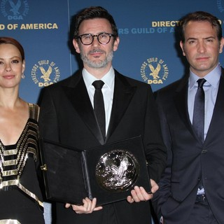 Berenice Bejo, Michel Hazanavicius, Jean Dujardin in 64th Annual Directors Guild of America Awards - Press Room