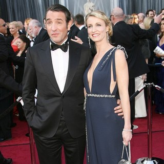 Jean Dujardin, Alexandra Lamy in 84th Annual Academy Awards - Arrivals