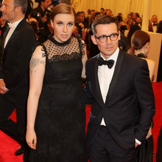 Lena Dunham, Erdem Moralioglu in PUNK: Chaos to Couture Costume Institute Gala