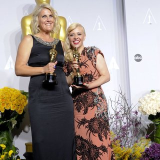 Beverley Dunn, Catherine Martin in The 86th Annual Oscars - Press Room