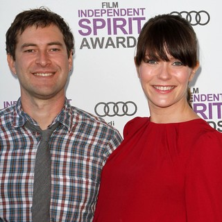 Mark Duplass, Katie Aselton in 27th Annual Independent Spirit Awards - Arrivals