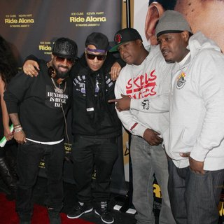 Jermaine Dupri, Styles P, Jadakiss, Sheek Louch in Universal Pictures Premiere of Ride Along