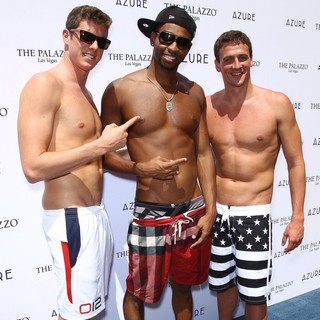 Conor Dwyer, Cullen Jones, Ryan Lochte in Ryan Lochte Celebrates His Olympic Success by Hosting A Day at Azure Pool
