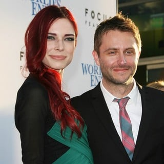 Chloe Dykstra, Chris Hardwick in The World's End Hollywood Premiere