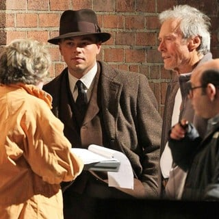 Leonardo DiCaprio, Clint Eastwood in On The Set of New Film J. Edgar