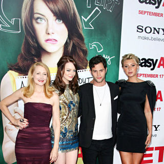 Patricia Clarkson, Emma Stone, Penn Badgley, Alyson Michalka in Los Angeles Premiere of 'Easy A'
