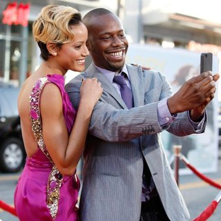 Selita Ebanks, Malcolm Barrett in Larry Crowne Los Angeles Premiere