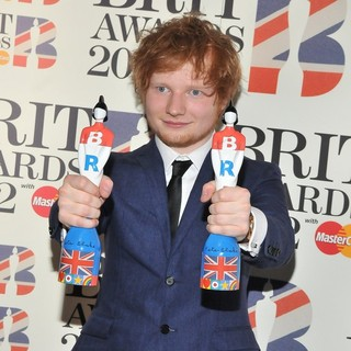 Ed Sheeran in The BRIT Awards 2012 - Winners Board
