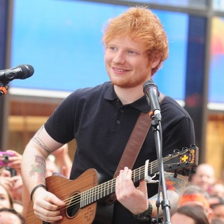 Ed Sheeran in Ed Sheeran Performs Live as Part of The Toyota Concert Series on NBC's Today