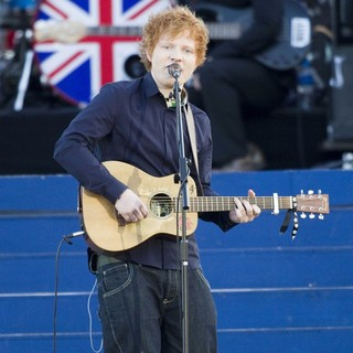 Ed Sheeran in The Diamond Jubilee Concert