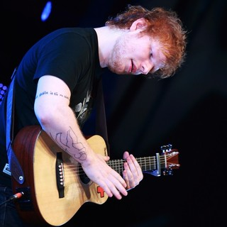 Ed Sheeran in Ed Sheeran Performing at The Festival Hall