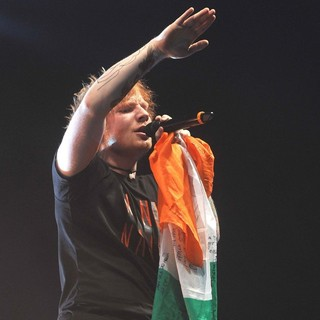 Ed Sheeran in Ed Sheeran Performs Live for The First of His Three Sold Out Shows This Weekend