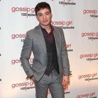 Ed Westwick in Gossip Girl Celebrates 100 Episodes