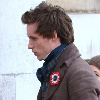 Eddie Redmayne in On The Set of Les Miserables