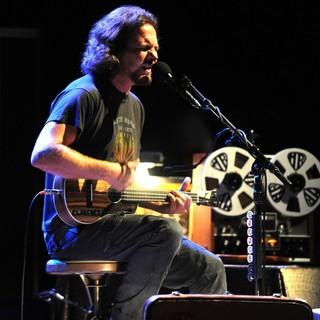Eddie Vedder, Pearl Jam in Eddie Vedder performs at the Carre Theatre